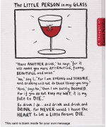 """The Little Person In My Glass"" card by Edward Monkton"