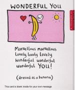 """""""Wonderful You"""" card by Edward Monkton"""