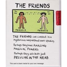 """The Friends"" Card by Edward Monkton"