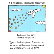 """A Beautiful Thought About You"" Card by Edward Monkton"