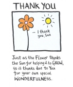 """Thank You"", thank you card by Edward Monkton"