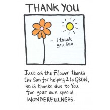 """Thank You"", thank you card by Edward Monkton"