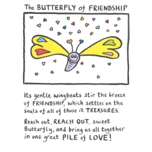 """The Butterfly of Friendship"" Card by Edward Monkton"