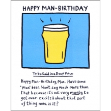 """Happy Man Birthday"" Card by Edward Monkton"