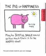 """The Pig of Happiness"" Card by Edward Monkton"