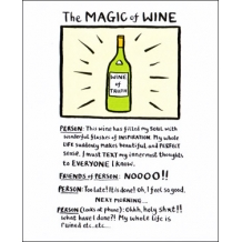 """The Magic of Wine"" Card by Edward Monkton"