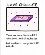 """Love Chocolate"" Card by Edward Monkton"