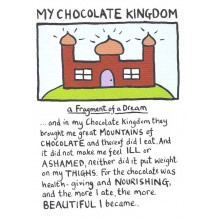 """My Chocolate Kingdom"", card by Edward Monkton"