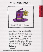 """You Are Mad"" card by Edward Monkton"