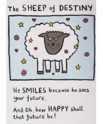 """The Sheep of Destiny"" card by Edward Monkton"