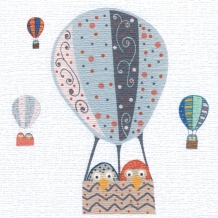 Balloon Owls, card by Helen Williams