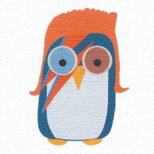Bowie owl, card by Helen Williams