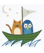 The Owl and the Pussycat greeting card by Helen Williams