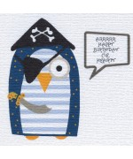 Pirate Birthday Owl, Birthday card by Helen Williams