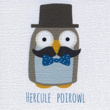 """Hercule Poirowl"", card by Helen Williams"