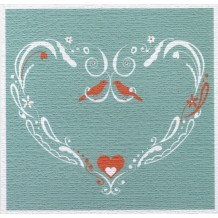 """Turquoise Heart"", card, congratulations by Helen Williams"