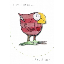 """A little birdie told me...."" Greeting card by Lynn Kenny"
