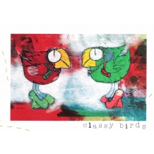 """Classy Birds"" Greeting card by Lynn Kenny"