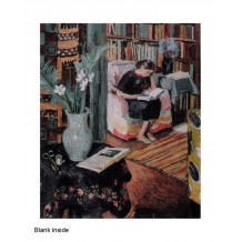 """Interior with the Artist's Daughter"" a card from an oil painting by Vanessa Bell"