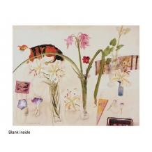 """""""Still Life, Cat & Flowers"""" by Elizabeth Blackadder"""