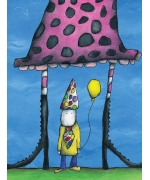 All the attention. Greeting card from Mr Ferguson's world of whimsy
