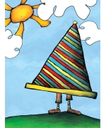 Big Hat. Greeting card from Mr Ferguson's world of whimsy