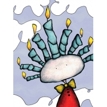 Candle Hair. Greeting card from Mr Ferguson's world of whimsy