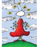 Flower Power. Greeting card from Mr Ferguson's world of whimsy
