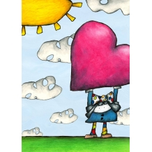 Huge Heart. Greeting card from Mr Ferguson's world of whimsy