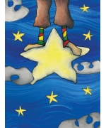 Stand on a star. Greeting card from Mr Fergson's world of whimsy