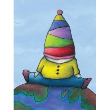 On Top Of The World. Greeting card from Mr ferguson's world of whimsy
