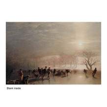 """""""Skating on Duddington Loch"""", card from a painting by Charles Lees"""