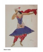 """Ballet Hindou"" card from a costume design by Leon Bakst"