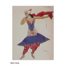 """""""Ballet Hindou"""" card from a costume design by Leon Bakst"""