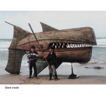 """Wooden Whaler"", card from an installation by David Kemp"