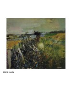 """July Fields"", card from a painting by Joan K H Eardley"