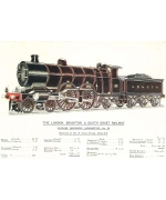 Express Passenger locomotive No38. Card from British Railway Museum