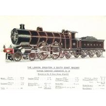 Express Passenger locomotive No38. Card from British Railway Museum