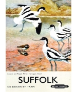 Suffolk, railway poster card