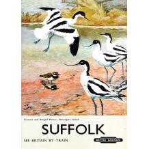 Suffolk, railway poster card