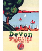 Devon. card from a National Railway Museum poster