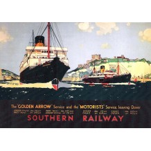 Channel Ferry at Dover,  card from a National Railway Museum poster
