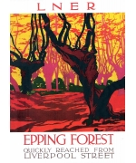 Epping Forest. Card from a National Railway Museum poster