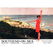 Southend-On-Sea. card from a National Railway Museum poster