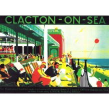 Clacton-on-Sea. card from a National Railway Museum poster
