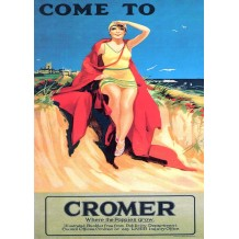 Come to Cromer. Card from a National Railway Museum Poster
