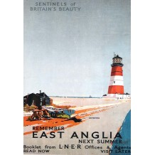 Orfordness, East Anglia, card from a National Railway Museum poster
