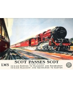 Scot Passes Scot, card from National Railway Museum poster