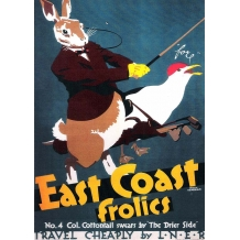"East Coast Frolics No 4 ""Cottontail swears by 'The Drier Side' card"