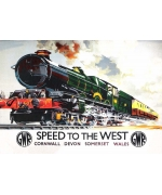 Speed to the West, Railway poster card
